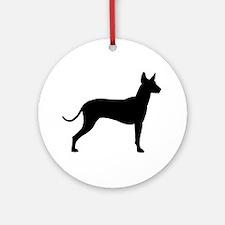Xoloitzcuintli Profile Ornament (Round)