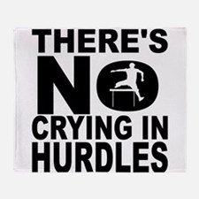 There's No Crying In Hurdles Throw Blanket