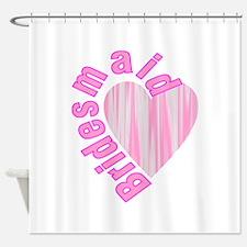 pink bachelorette party bridesmaid Shower Curtain
