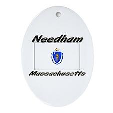 Needham Massachusetts Oval Ornament