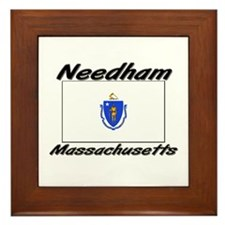 Needham Massachusetts Framed Tile