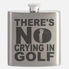 There's No Crying In Golf Flask