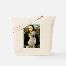 Mona Lisa & Yellow Lab #2 Tote Bag