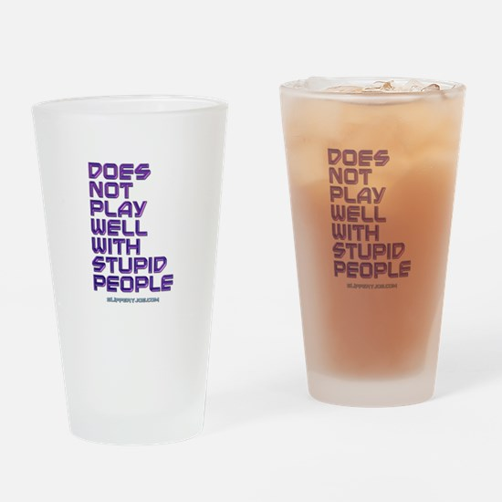 Cute Slipperyjoe.com Drinking Glass