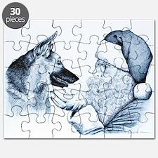 German Shepherd and Santa Puzzle