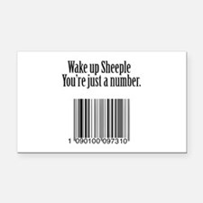 Wake up Sheeple Rectangle Car Magnet