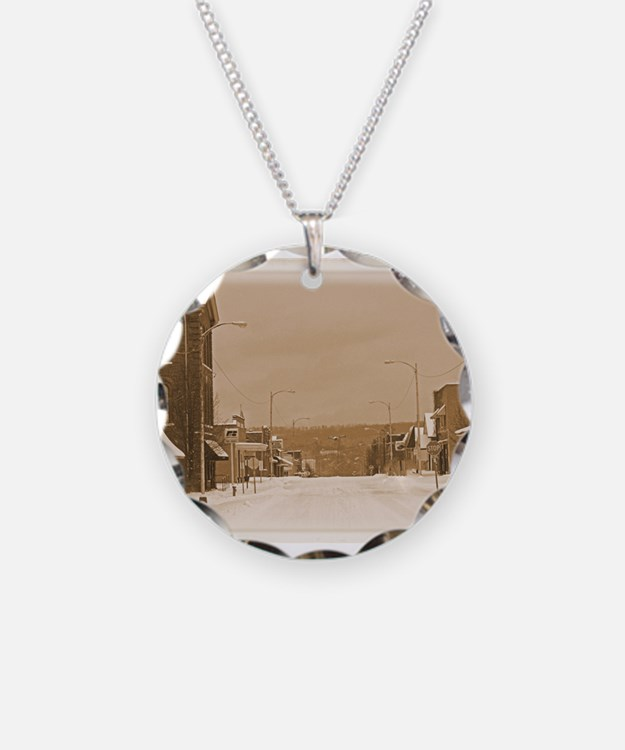 Old Main Street in the Snow Necklace