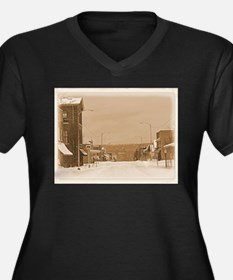 Old Main Street in the Snow Plus Size T-Shirt