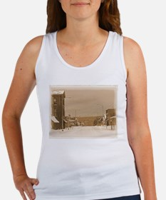 Old Main Street in the Snow Tank Top
