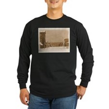 Old Main Street in the Snow Long Sleeve T-Shirt