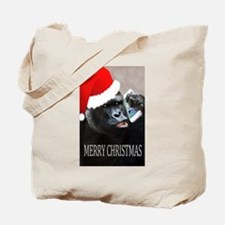 Merry Christmas Gorilla Tote Bag