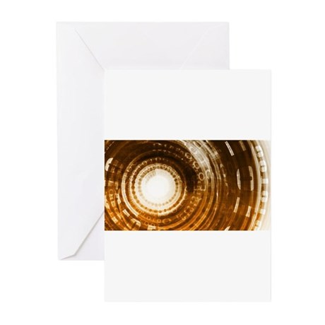 Binary Data Abstract Greeting Cards