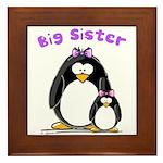 Big Sister penguin Framed Tile