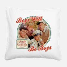 Boys Will Be Boys Square Canvas Pillow