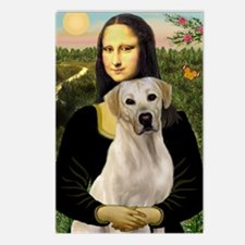Mona Lisa & Yellow Lab #2 Postcards (Package of 8)