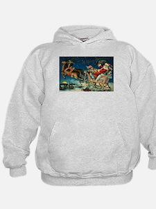 Vintage Santa Sleigh Hoodie
