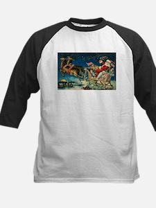 Vintage Santa Sleigh Baseball Jersey