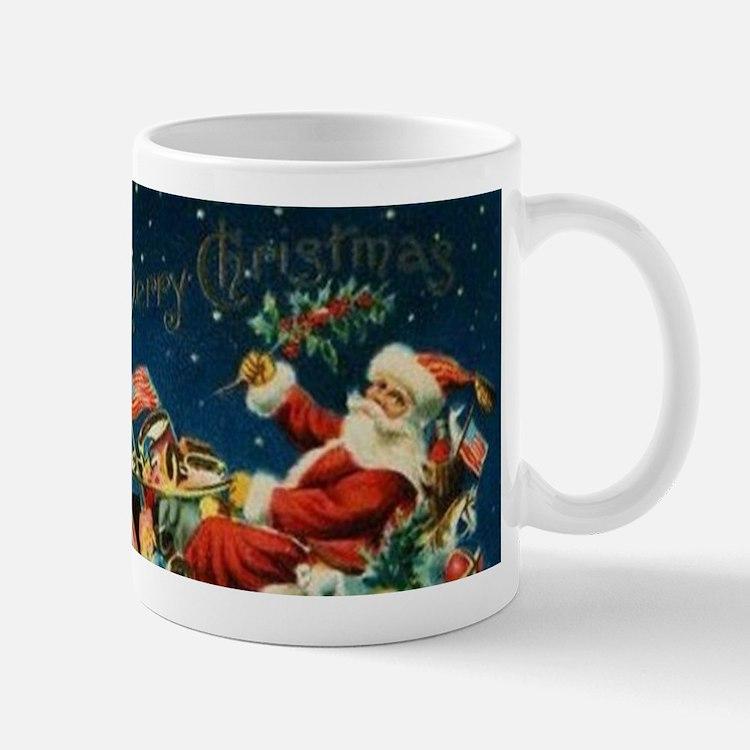 Vintage Santa Sleigh Mugs