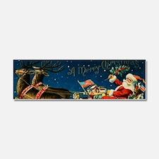 Vintage Santa Sleigh Car Magnet 10 x 3