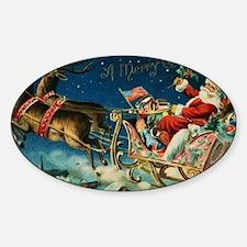Vintage Santa Sleigh Decal