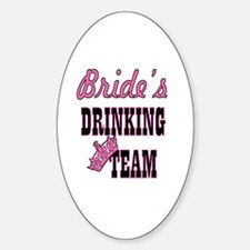 Cute Team bride Sticker (Oval)