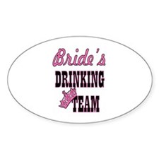 bachelorette bride's drinking team Decal
