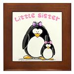 Little Sister penguin Framed Tile