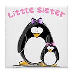 Little Sister penguin Tile Coaster