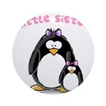 Little Sister penguin Ornament (Round)