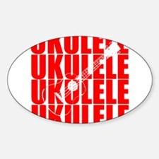 Red Ukulele Decal
