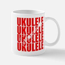 Red Ukulele Mugs
