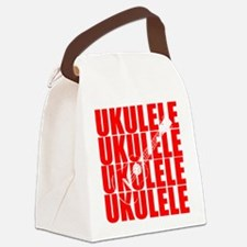 Red Ukulele Canvas Lunch Bag