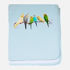Parakeets & Cockatiels baby blanket
