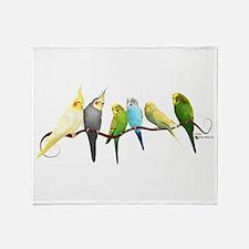 Parakeets & Cockatiels Throw Blanket