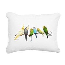 Parakeets & Cockatiels Rectangular Canvas Pillow