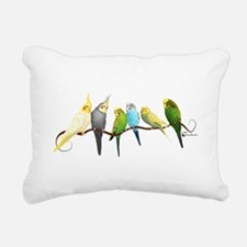 Parakeets & Cockatiels Rectangular Canvas Pillow