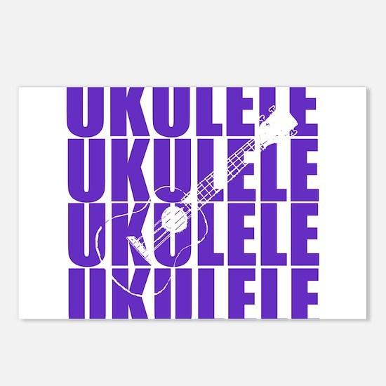 Purple Ukulele Postcards (Package of 8)