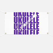 Purple Ukulele Banner