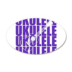 Purple Ukulele Wall Decal