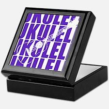 Purple Ukulele Keepsake Box