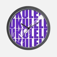 Purple Ukulele Wall Clock