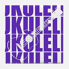 Purple Ukulele Tile Coaster