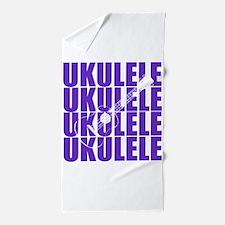 Purple Ukulele Beach Towel