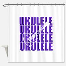 Purple Ukulele Shower Curtain