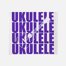 Purple Ukulele Throw Blanket