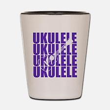 Purple Ukulele Shot Glass