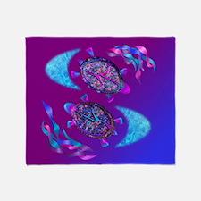Cute Pink turtle Throw Blanket