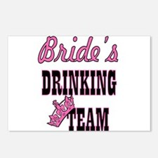 bachelorette bride's drin Postcards (Package of 8)