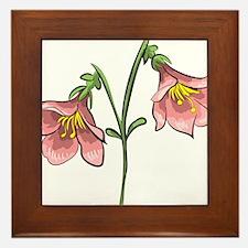 Linnea flower Framed Tile