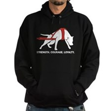 Strength. Courage. Loyaty. Pit Bull Hoodie
